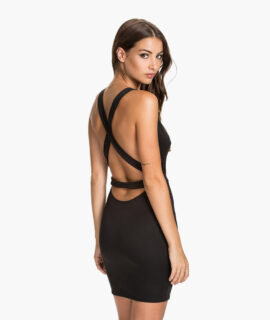 Dress With A Strap On The Back